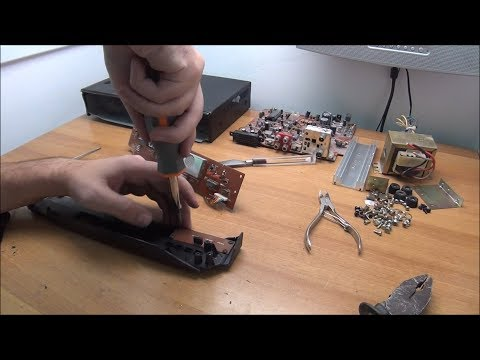 Salvaging components from a defective LCD TV and a Satellite Receiver