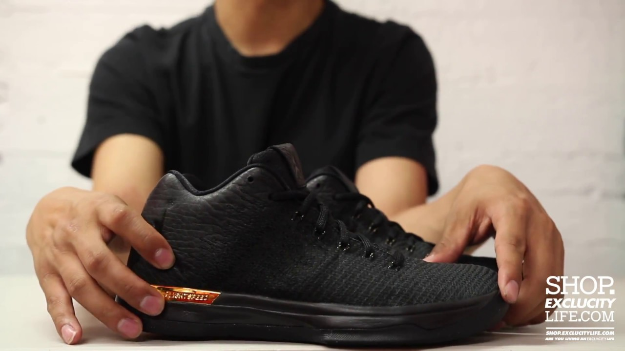 bc870821457 Air Jordan XXXI Low Black Metallic Gold Unboxing Video at Exclucity ...