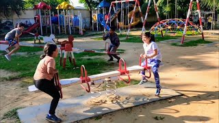 Outdoor playground for kids play with Anaya
