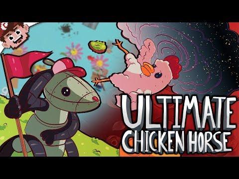 Blackhole in the End Zone!  ROBO RABBITS REVENGE! Ultimate Chicken Horse