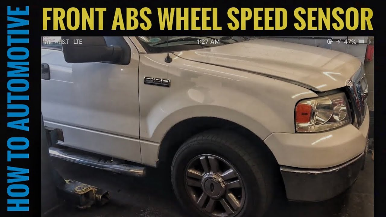 How To Replace The Front Abs Wheel Speed Sensor On A 2004 2008 Ford 2007 Mountaineer Wiring Diagrams Howtoautomotive Autorepair Brianeslick