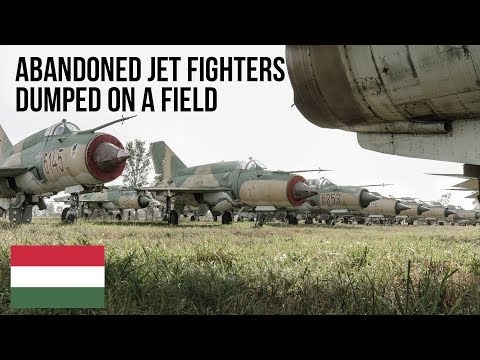 URBEX | Abandoned Jet Fighter dump found on a field.