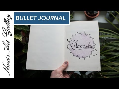 Bullet Journal - Marraskuu - Noora's Art Gallery