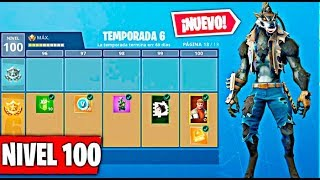LLEGANDO AL NIVEL MAXIMO DE LA TEMPORADA 6 DE FORTNITE !! NIVEL 100 !! HOMBRE LOBO !! Makigames