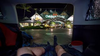 Urban Stealth Truck Camṗing at Bass Pro Shops