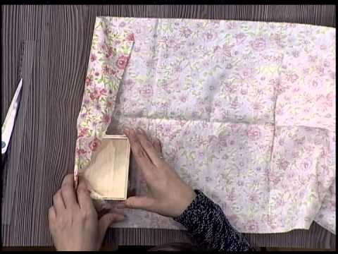 Caja forrada en tela youtube for Forrar cajas de carton con tela
