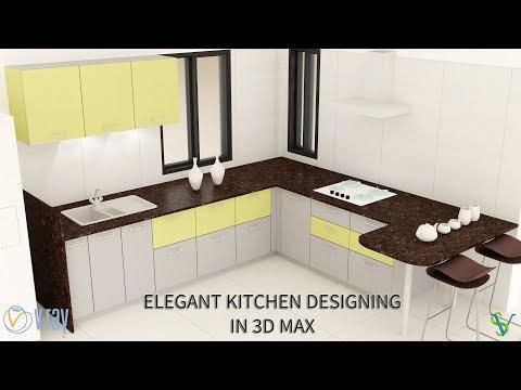 Elegant Kitchen Designing In 3D Max & Vray