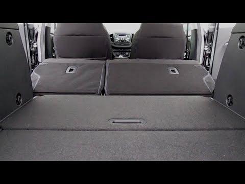 PRO багажное отделение LADA VESTA SW, снятие подушки заднего сиденья и почти ровный пол.