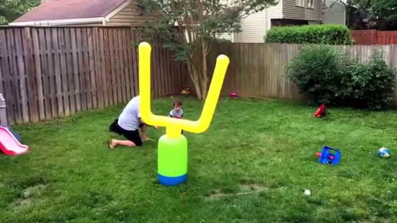 toddler sports field goal amazing kick toddler football