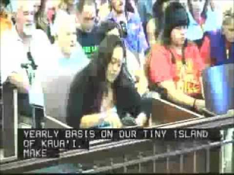 Malia Chun Kekaha Kauai Resident & Hawaiian Cultural Practioner Testifies in Favor of Overriding May