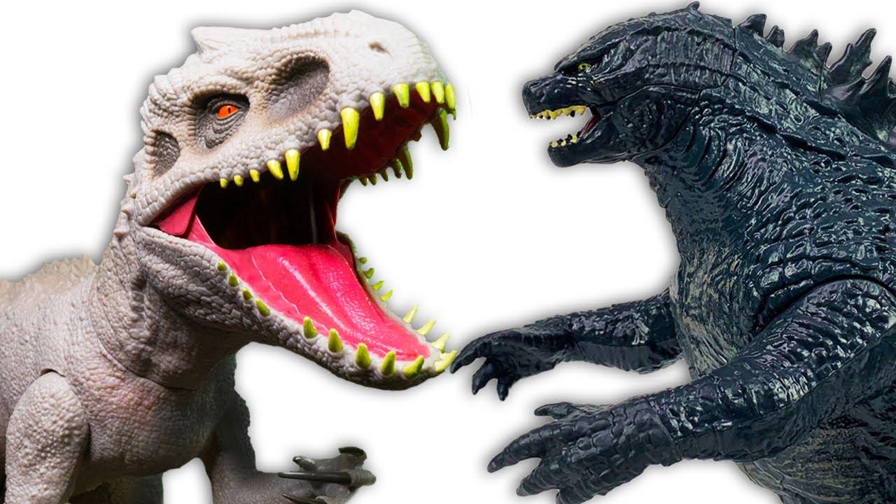 GODZILLA VS. INDOMINUS REX! Ultimate Jurassic World and Godzilla Toy Battles!