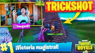 MI PRIMER TRICKSHOT en FORTNITE: Battle Royale!! - Agustin51