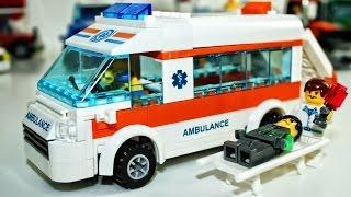 Машинки мультфильм - Лего Скорая помощь, полицейская машина - Развивающие мультики