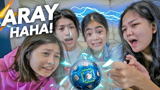 SIBLINGS Shock Ball Challenge!! (Nakuryente haha!) | Ranz and niana