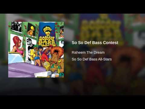 So So Def Bass Contest