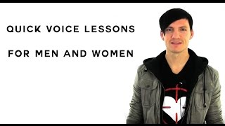 Voice Lessons - Quick Voice Lessons Online For Men And Women To Improve Range And Pitch!