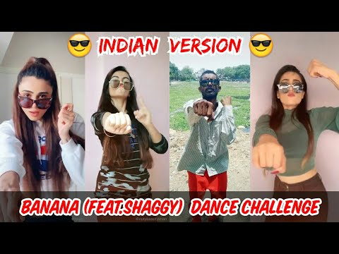 BANANA feat. Shaggy - Conkarah Remix DROP CHALLENGE TikTok| |Indian Version Tiktok Compilation