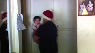 Baby doesn't like Santa