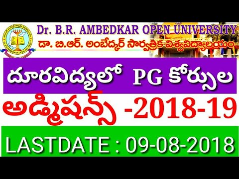 Dr. B. R. AMBEDKAR OPEN UNIVERSITY  PG admission notfication