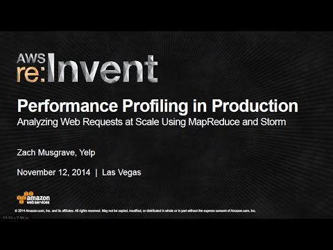 AWS re:Invent 2014 | (BDT402) Performance Profiling: Analyze Web Requests @ Scale - EMR and Storm