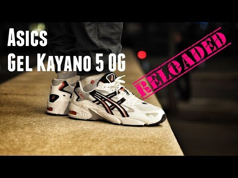 c90b4a7ab3ce7a The Second Coming: Asics Gel Kayano 5 OG White Red On Feet - YouTube