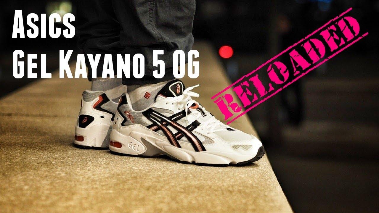 esikatselu tavata tukkukauppa The Second Coming: Asics Gel Kayano 5 OG White Red On Feet