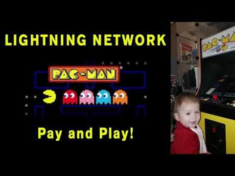 First Lightning Network Bitcoin PAC-MAN Arcade