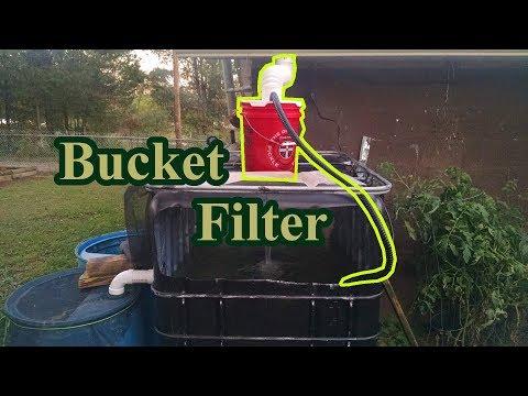 Bucket filter for BIG bait tank