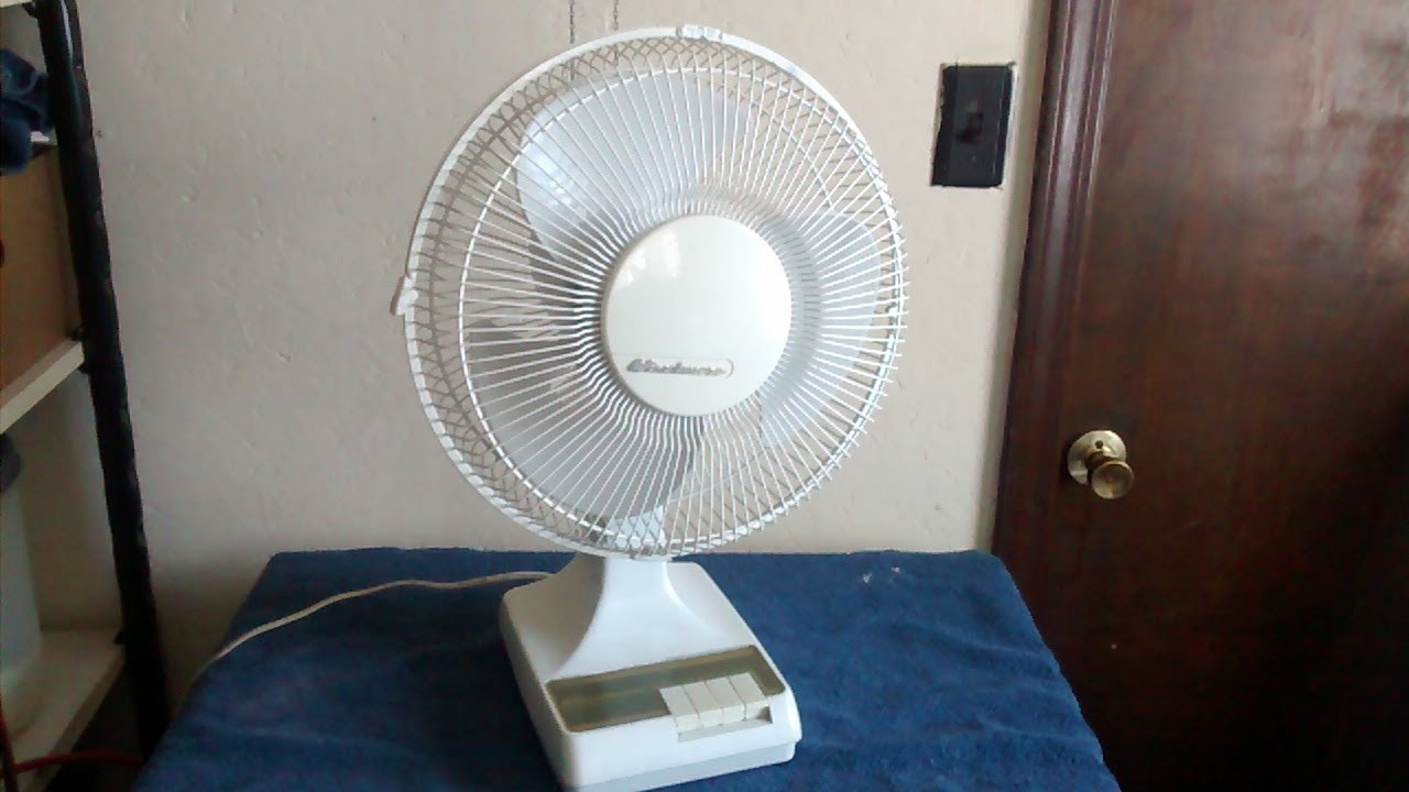 Windmere Table Fan : Vintage windmere df newer version youtube