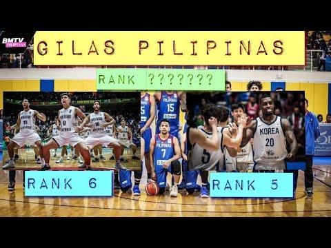 GILAS PILIPINAS | PANG ILAN SA FIBA ASIAN OCEANA RANKING ?