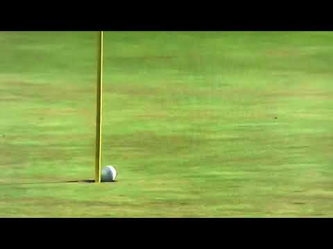 Tyrrell Hatton's ball spins out of the hole at the Dell Technologies 2018