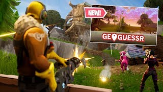 FORTNITE Geoguessr WITHOUT looking around !!! (Fortnite Battle Royale)