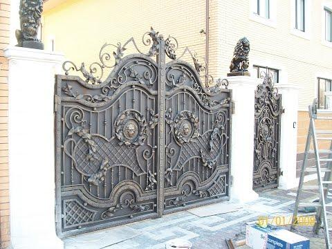 Ворота с элементами ковки Главная