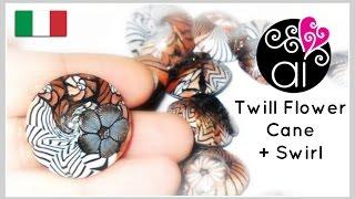 Millefiori Cane Tutorial | Polymer Clay | Murrina Fiore 'Spigato'| DIY Etno Swirl Beads