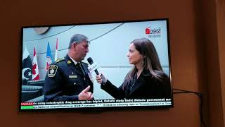 Interview with Chief Joliff for Pakistan Flag Hoisting  in Toronto