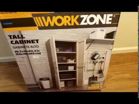 ALDI'S: WORKZONE TALL CABINET