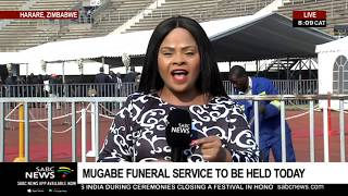 Mugabe funeral service being held at the National Stadium