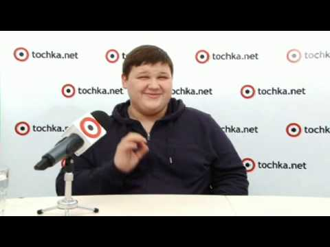 Победитель Х фактора 4 Александр Порядинский  в гостях на tochka net. 10.01.2014