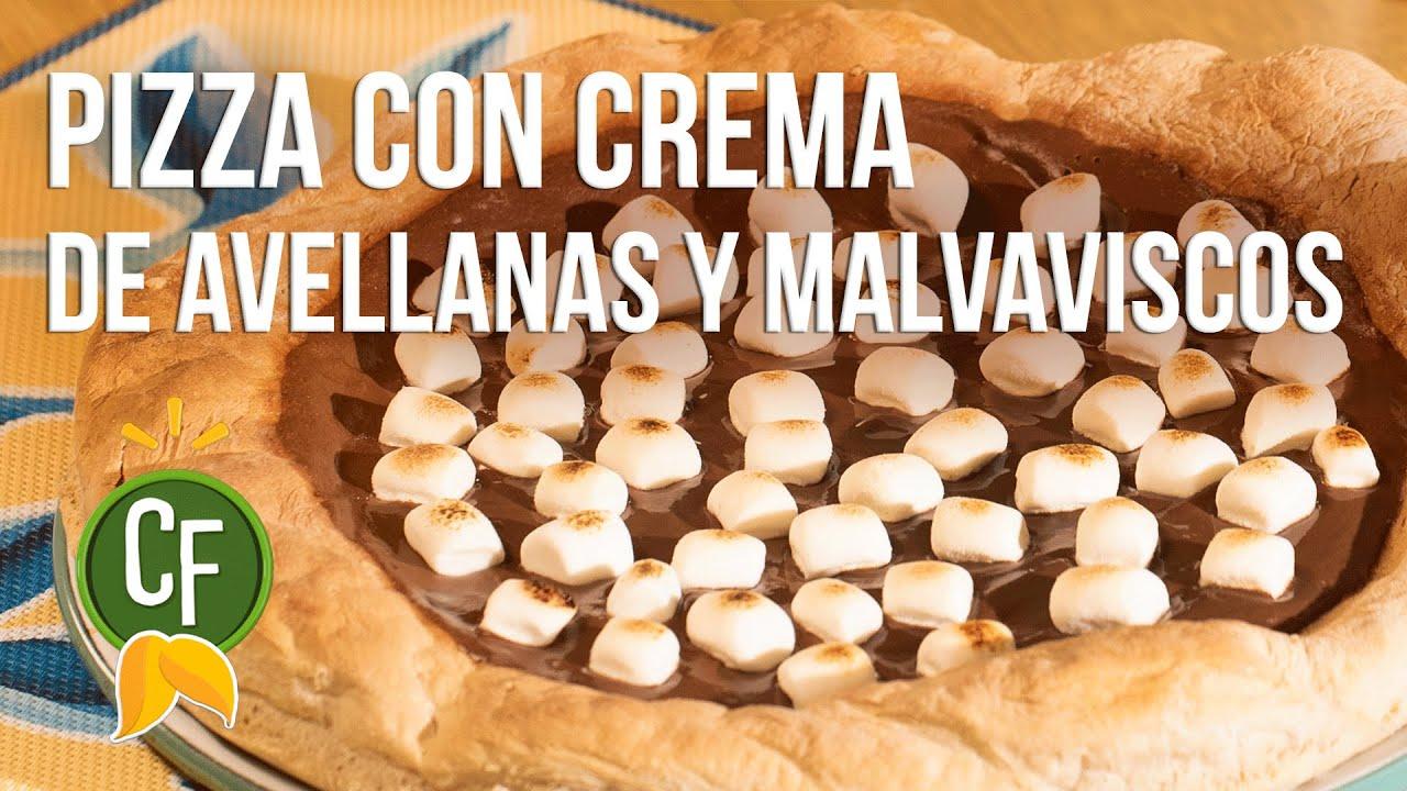 Pizza con Crema de Avellanas y Malvaviscos | Cocina Fresca