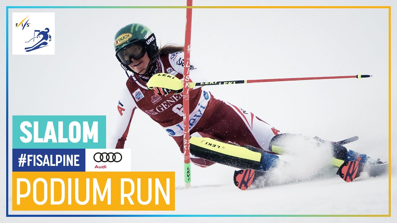 Michelle Gisin 2nd Place Levi Slalom 2 Fis Alpine Youtube