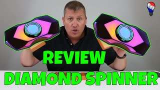 Fidget Hand Spinner Diamond Rainbow Colorful Test Review Francais ThinkUnBoxing 4k