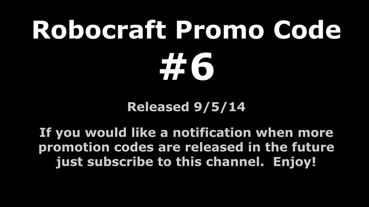 Robocraft Promo Code #6 - YouTube