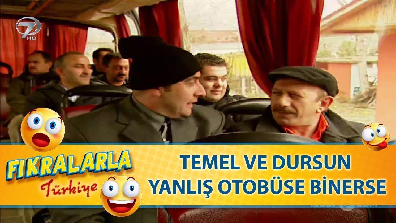 Temel ile Dursun Yanlış Otobuse Binerse  - Türk Fıkraları  30
