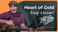 Heart Of Gold - Neil Young - Guitar Lesson (ST-909) How to play acoustic