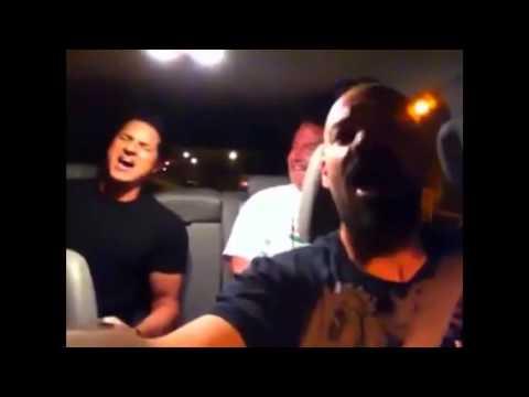 Zak bagans sings in car