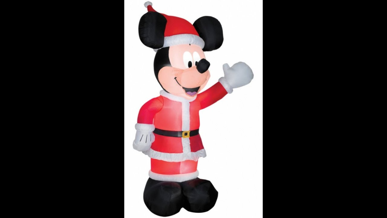 11ft inflatable mickey mouse santa yard decoration youtube