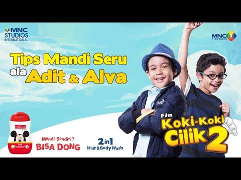 ADIT & ALVA - MANDI SENDIRI BISA DONG | FILM KOKI-KOKI CILIK 2