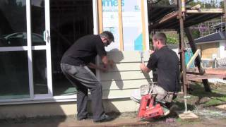 Ezy Build Products installing Weatherboard Siding