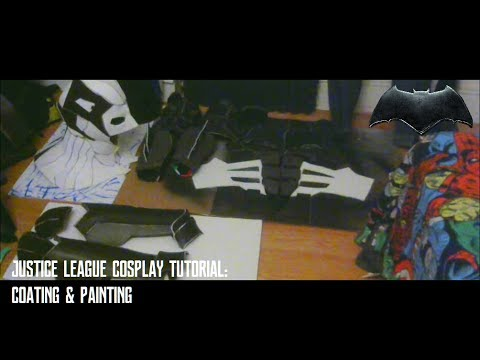 Justice League Tactical Batsuit Cosplay Tutorial : Coating&Painting Timelapse