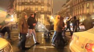 ブリュッセルのデモで銃声inベルギー